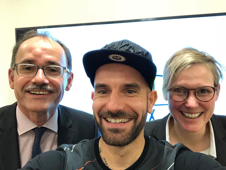 Dr. Wolfgang Blank (links), Martin Horst (mitte), Esther Stühmer (rechts)
